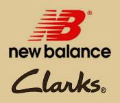 new balance and clark logos
