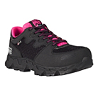 black and pink boot