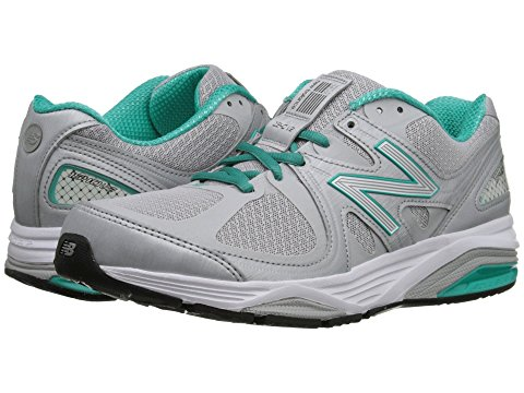 gray and teal sneaker