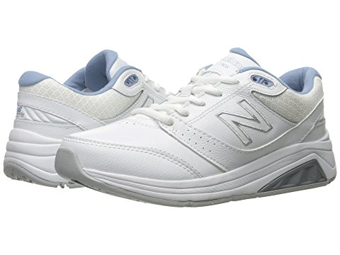 white and blue sneaker